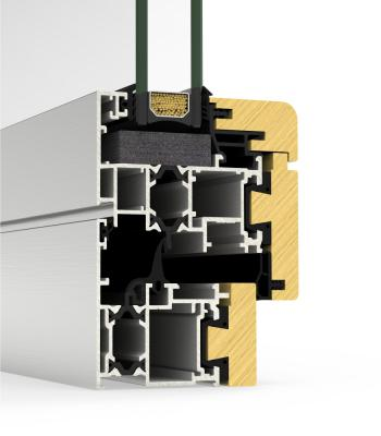 Detalle del sistema Cor Galicia Premium Alum-madera RPT